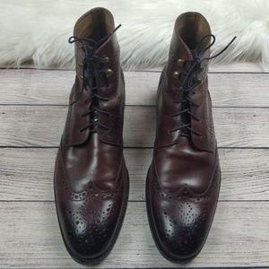 Johnston & Murphy Cherry Brown Wingtip Brogue Boot